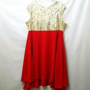 Nextmia Women's Party Dress Sz 18 Red And Gold